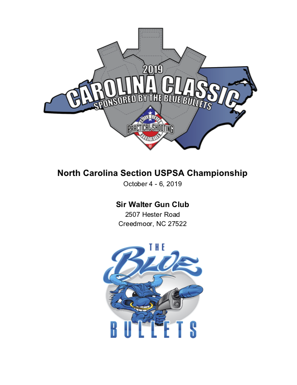 2019 Carolina Classic Matchbook Cover